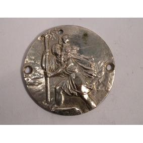 Antiguo Medalla Insignia De Auto San Cristobal Firmado