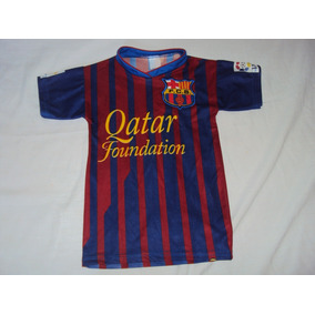 b91364471f Camisa Do Barcelona Falsa Infantil - Camisa Casual no Mercado Livre ...
