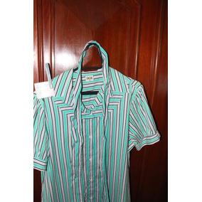 = Roupa Lote 621 Mulher Camisa Social Stroke 2 Verde Listrad