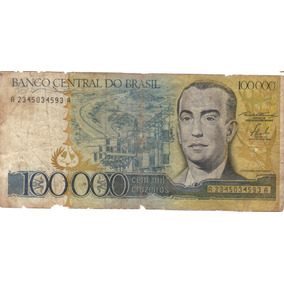 Nota 100 000 Cruzeiros Juscelino