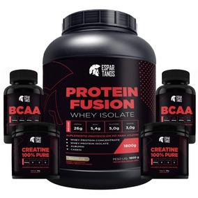 Protein Fusion Whey Isolate 1,8kg + 2x Creatina + 2x Bcaa