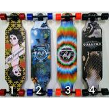Skate Longboard Completo Rolamento Abec 15 Novo Montado