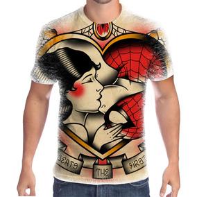Camiseta Personalizada Homem Aranha E Mary Jane ! fc6a853406f