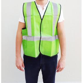 Chaleco Reflectivo De Seguridad Verde Con Bandas Reflectivas