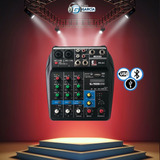 Consola De Audio 4ch, Usb,bluetooth, Efectos, Karaoke O Casa