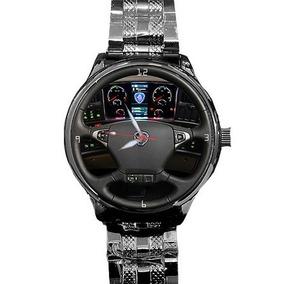 Relógio Scania Black Painel Personalizado Caminhão Onibus