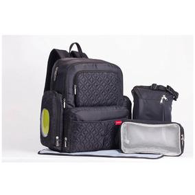 Pañalera-mochila Moderna Soho Manhattan Color Negro