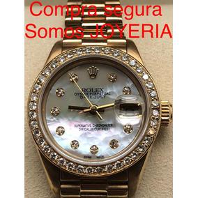 Rolex Presidente Dama Oro Solido 18k Con Bisel De Diamantes