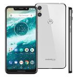 Smartphone Motorola Moto One 64gb White 4g Tela 5,9 Câmera