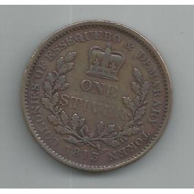 Moeda De Essequebo E Demarary - One Stiver - 1813 - Rara