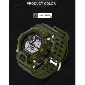 Relógio Militar Army Green Verde Sanda Shock Digital Barato