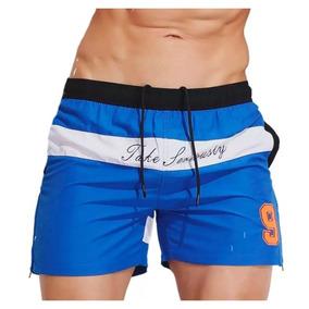 Bermuda Traje De Baño Shorts De Hombre Para Playa Natación