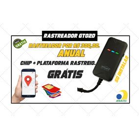 Rastreador Gt02d Com Plataforma E Chip M2m Sem Mensalidade