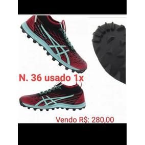 Tênis Asics Gel Fuji Runnegade 2 Feminino Vermelho   Azul Pi 05e995a5a3dff