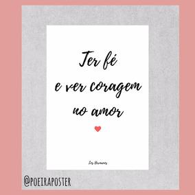 Pôster A4 - Coragem No Amor