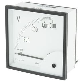 Voltímetro 500v 96mm Lukma