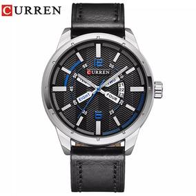 Relógio Curren Original Pulseira De Couro.