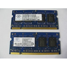 Memoria Ram Nanya 1gb 2x512mb Pc2-5300s Ddr2 Laptop Usada