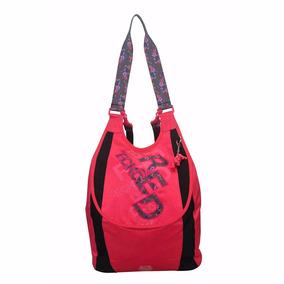 Bolsa Mochila Feminina Ecko Red Original Faculdade Vermelha