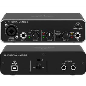 Behringer Umc22 Interface Usb Placa De Sonido