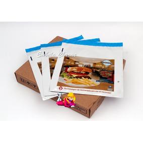 Embalagem Lanches Hambúrguer Saco Térmica - 500 Unid
