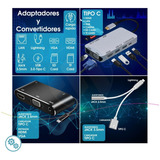 Adaptador Convertidor Tipoc Hdmi Vga 3.5mm Lan Macbook Dell