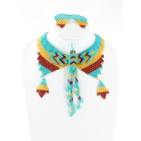 Collar De Chaquira Colibri Con Aretes Y Pulsera