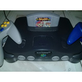 Nintendo 64 Impecable Con Super Smash Y 2 Controles