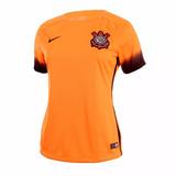 a186a848f3 Camisa Feminina Nike Original Corinthians Iii 2015 Laranja