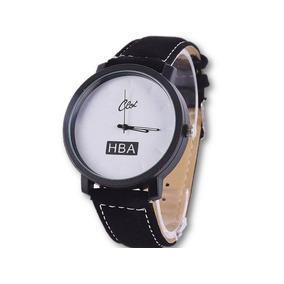 e6f3937b54f Relógio De Couro Branco Unissex Style - Relógios no Mercado Livre Brasil