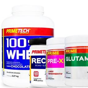 Kit Primetech Proteina + Suplementos De Definición Muscular