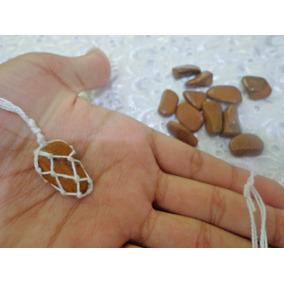 Colar Hippie De Pedra Rolada Obsidiana (marrom)