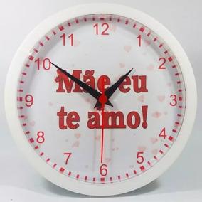 a57258f77fd Relógio De Parede Personalizado Dia Dos Pais Mães Namorados ...