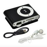 Mp3 Radio Shuffle Clip Metálico Con Audifonos Colores