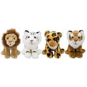 Pelúcia Tigre, Leopardo, Leão, Tigre Branco - Bbr Toys