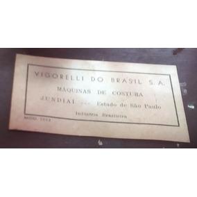 Maquina De Costura Vigorelli Completa Decoração Vintage