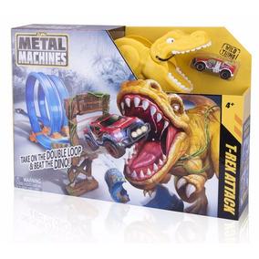 Brinquedo Natal Pista Metal Machines T Rex Attack Candide