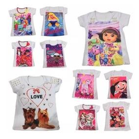 10 Camiseta Blusa Infantil Feminina Roupa Menina Atacado ! fde8547a59