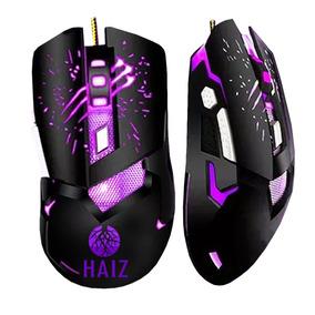 Mouse Gamer Haiz Iluminação Led Rgb Com Fio 3200dpi 2.4g
