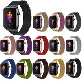 Correa Malla Milanese Para Apple Watch Serie 4 + Mica Y Case