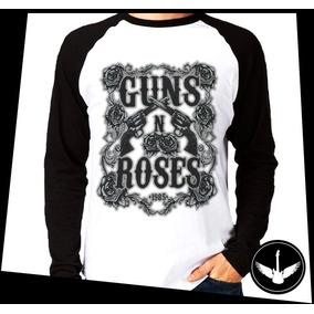 Manga Longa Guns N Roses Banda Hard Rock Camisa Comprida Ros da7d7618e96a3