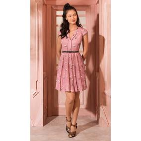 Antix Vestido Curto Porquinha Dançarina Rosa Com Tag R80851