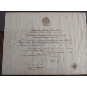 Diploma Da Ordem Do Mérito Aeronáutico 1957