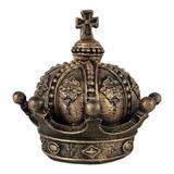 Coroa Rainha Princesa Dourada Decoração De Mesa Em Resina