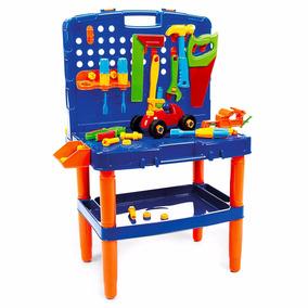Maleta De Ferramentas Bancada Brinquedo 45 Pçs - Poliplac