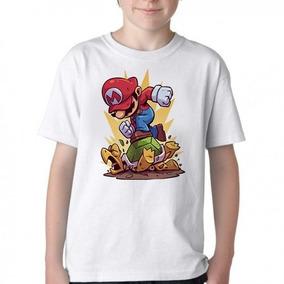 Camiseta Blusa Infantil Mario Bros Nintendo Luigi Tartaruga