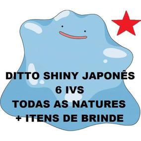 Pacote 25 Ditto Shiny 6 Ivs Todas Natures Pokemon Sun Moon