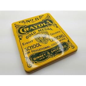 Latinha Crayola Estojo Porta Crayon Coleção Vintage Retrô