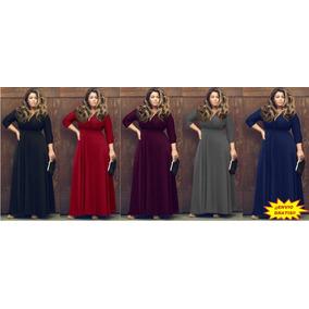 Maxi Vestido Largo De Fiesta Elegante Sexi Talla Extra Plus