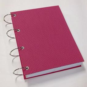 Caderno Universitário Argolado 20 Matérias 400fl Poá Pink